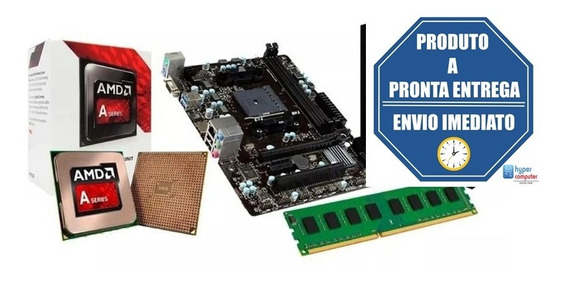 Kit Gamer Barato Processador A68 7480 , Placa Fm2+ 8gb Ddr3