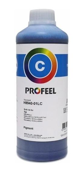 Tinta Pigmentada Inktec Profeel Cyan Hp 8100 8600 8610 1l