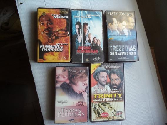 Lote 5 Filmes Vhs Treze Dias Fugindo Do Passado/..dubladas