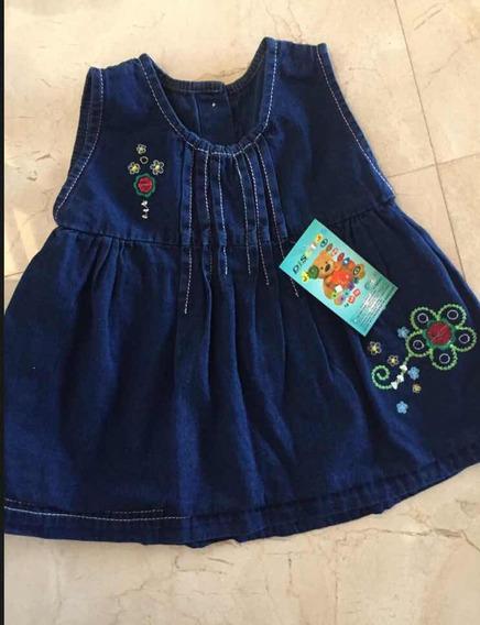 Vestido Blue Jean Para Niñas, Vestido Marinero,marca Guess