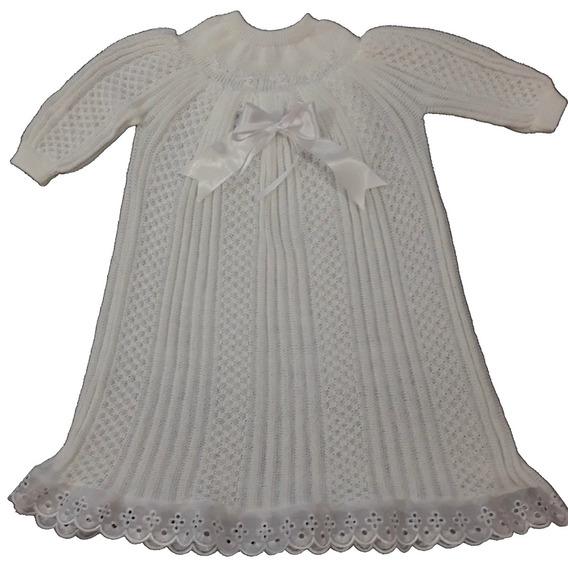 Roupa Batizado Bebêmenina Vestido Mandrião Bordado Ref.2-236
