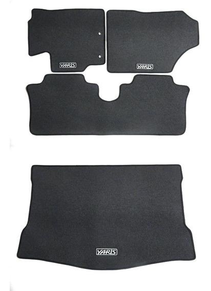 Tapete Borracha Super Luxo Yaris Hatch 3 Pçs + Porta Malas