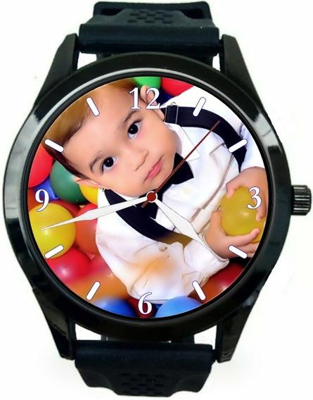 Relógio Pulso Personalizado Com Foto Imagem Logo Promoção