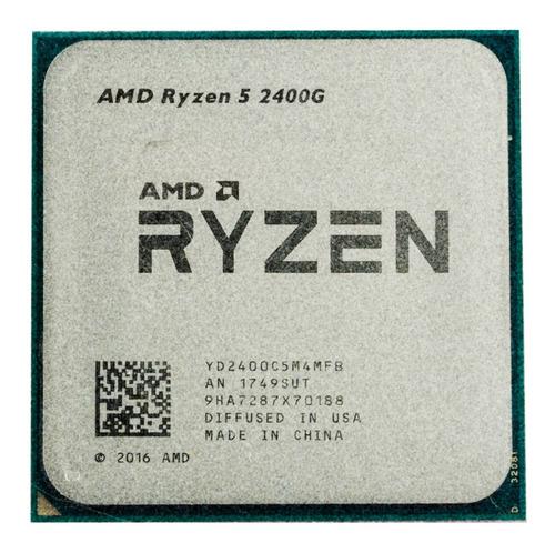 Processador gamer AMD Ryzen 5 2400G YD2400C5FBBOX de 4 núcleos e 3.6GHz de frequência com gráfica integrada