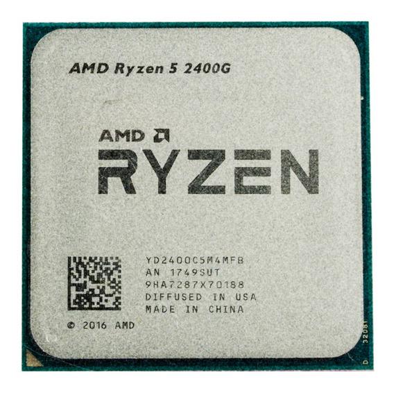 Processador AMD Ryzen 5 2400G 4 núcleos 64 GB