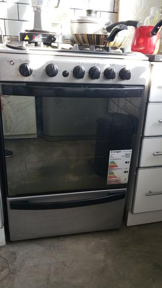 Cocina A Gas Ariston Con Grill Eléctrico 4 Hornallas - Usada