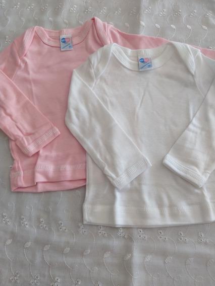 Kit 2 Camisetas Bebê Manga Longa (duas Unidades) Tiptop