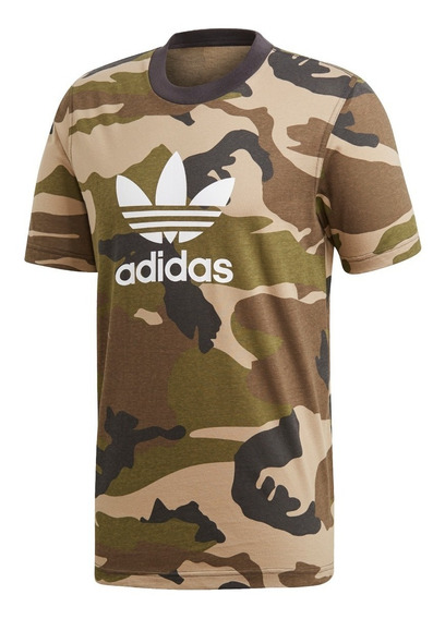 Remera adidas Originals Trefoil Camouflage De Hombre