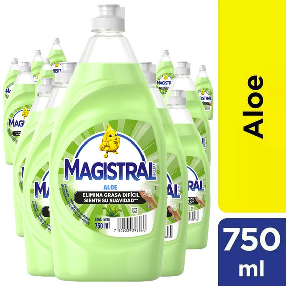 Pack 16 Lavaloza Concentrado Magistral Aloe 750 Ml