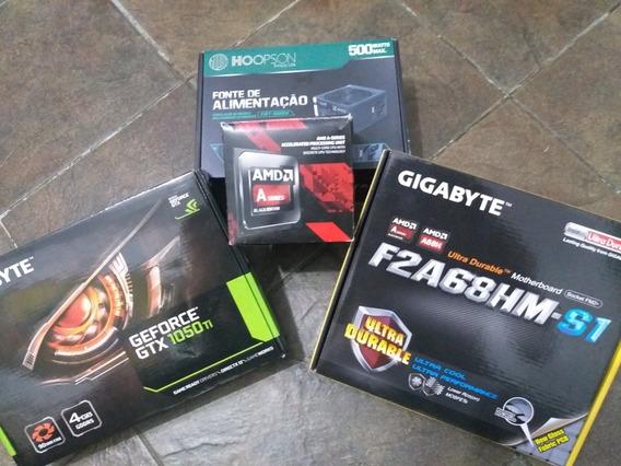 Computador Gamer Amd A10 7860k Com 1050ti E 8gb De Ram