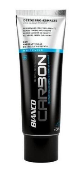 Creme Dental Bianco Carbon Carvão Ativado Com Xilitol