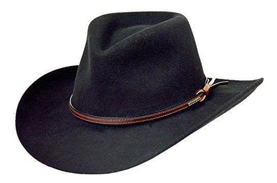 Sombrero De Vaquero Aplastable De Fieltro De Lana Stzons Par