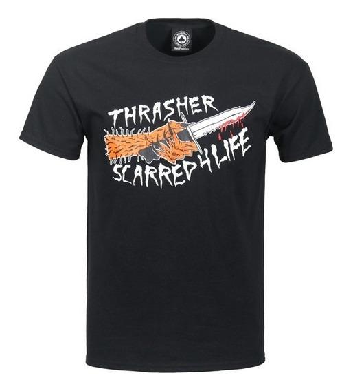 Playera Thrasher Scarred Black