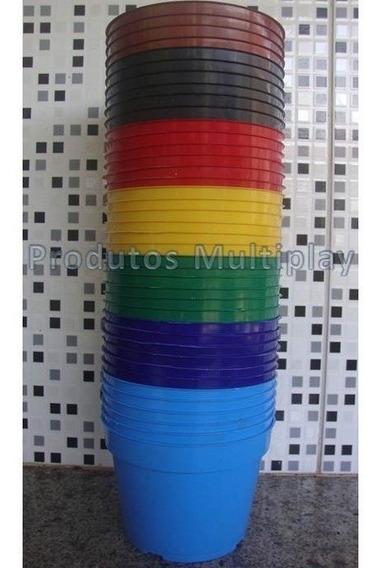 30 Vaso Pote Vf 13 Colorido 800ml Para Mudas Rosa Do Deserto