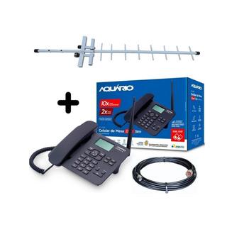 Kit Telefone De Mesa Rural Dual Chip Quadriband Ca-42s