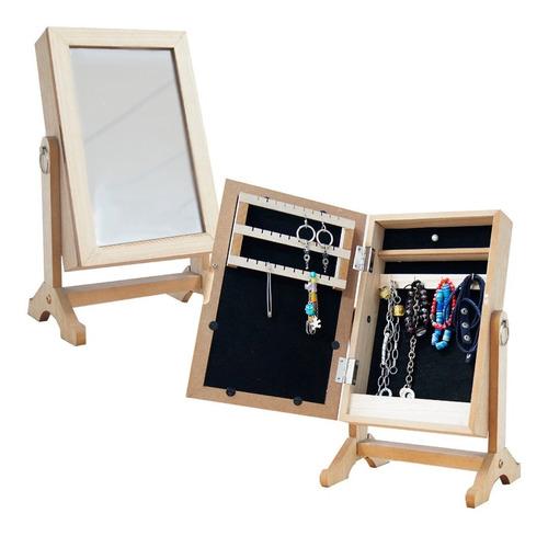 Espejo Organizador De Collares Caravanas Con Espacios
