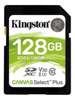 Cartao Memória Sd 128gb Sdxc 100mb/s Kingston Original