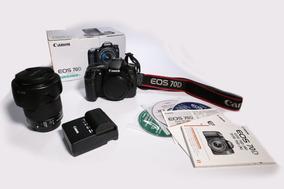 Canon Eos 70d + Lente 18-135mm + Cartão 32gb
