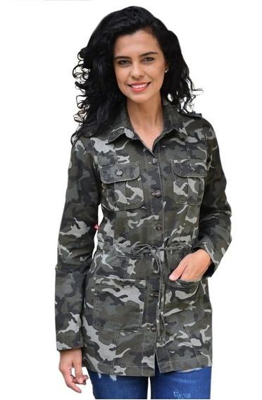 Parca Feminina Plus Size Militar Parka Camuflada Moda Grande