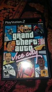 Grand Theft Auto Vice City + Manual + Mapa Para Ps2