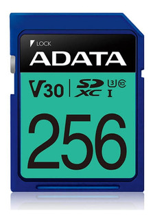 Memoria Sd Xc 256gb Adata V30 Video Ultra Hd Premier Pro
