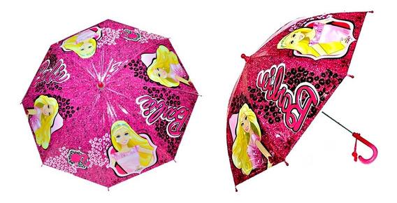 Paraguas Infantil Automático Barbie Original Cuotas