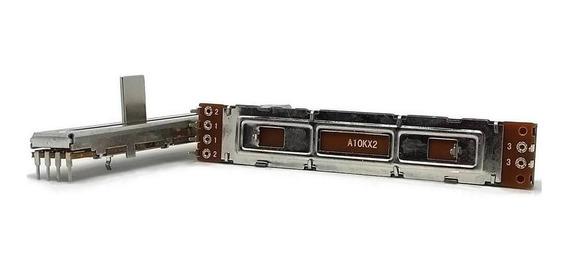2 Unids Potenciômetro Deslizante Stereo A103x2 88mm X 60mm