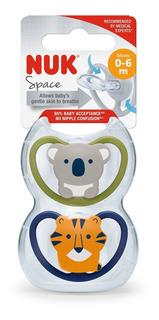 Set 2 Chupetes Bebe Space Nuk 0-6m 6-18m 18-36m Babymovil