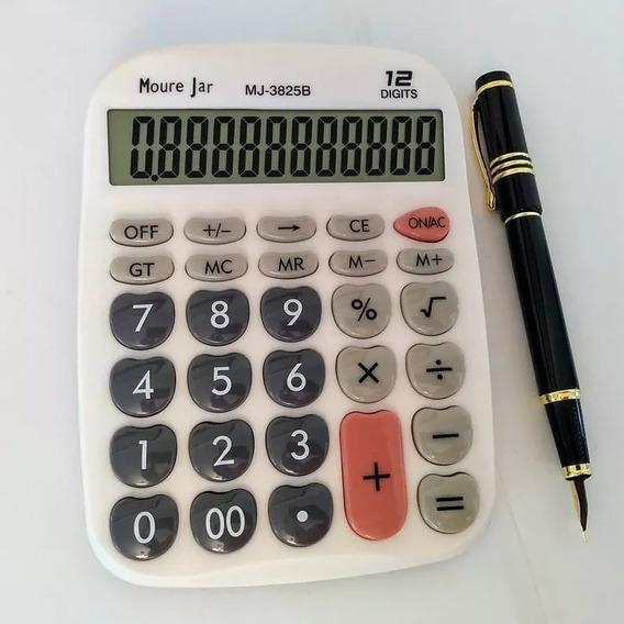 Calculadora De Mesa 17x13cm Grande C Todas Funções 12 Dig.