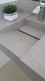 Bancada Em Porcelanato 60x45 C/cuba Esculpida.