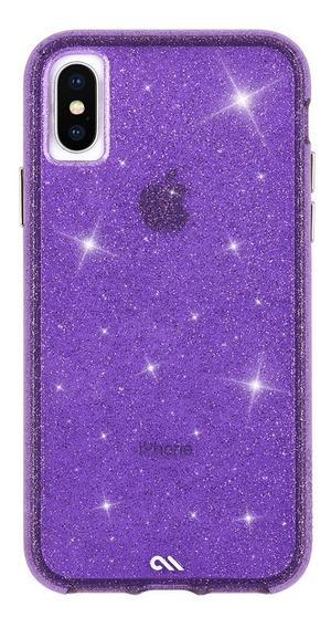 Case Mate Sheer Crystals iPhone X Xs Morado Funda Case