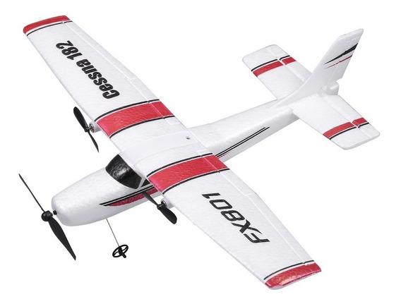 Fx801 Avião Cessna 182 2,4 Ghz 2ch Rc Avião Aeronave