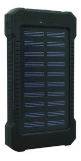 Carregador Portátil Power Bank Solar 8000mah Preto Celular