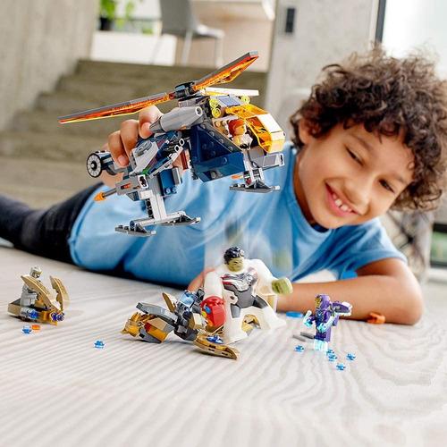 Lego Marvel Vengadores Hulk Helicóptero Rescue 76144 482 Pz