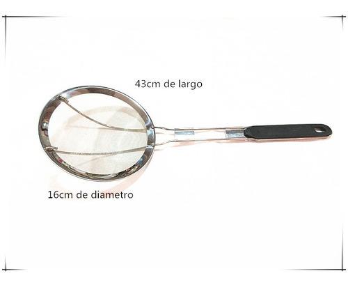 Colador Malla Cerrada 100% De Acero Inoxidable 16cm