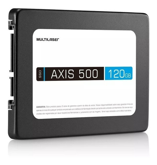 Hd Ssd 120gb Multilaser Ss100 500mb/s 2,5