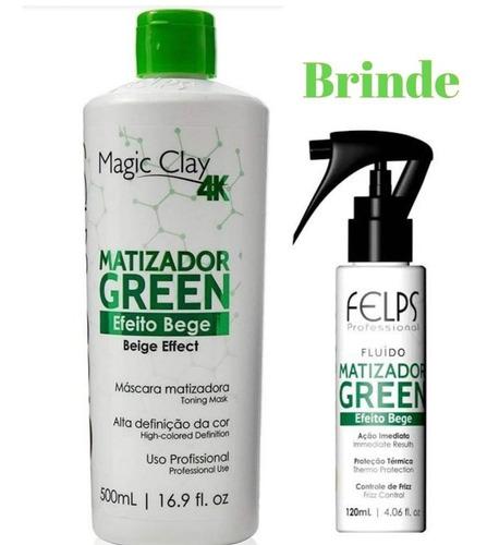 Imagem 1 de 1 de Felps Color Matizador Green Efeito Bege 500ml