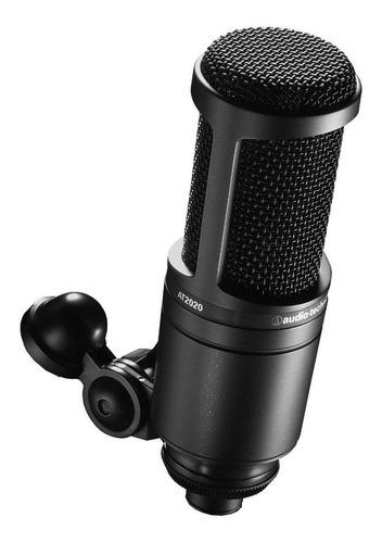Micrófono Audio-Technica 20 Series AT2020 condensador  cardioide negro