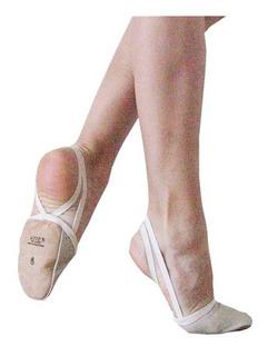 Zapatilla Metatarsiana En Cuero P/danza Clasica Y Moderno