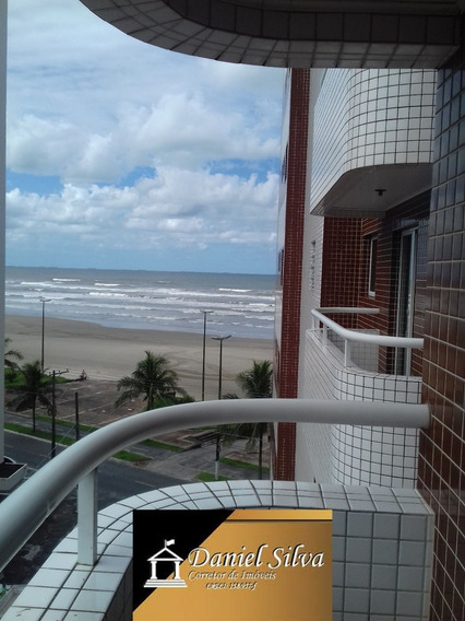 Apartamento Frente Para O Mar Em Praia Grande Só 168mil