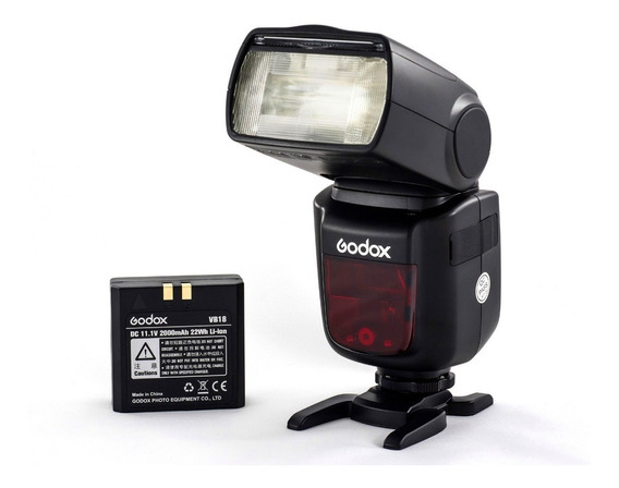 Flash Godox V860ii(c)ttl Com Bateria E Carregador Para Canon
