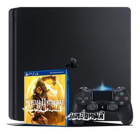 Ps4 Slim 1 Tb + Jogo Mortal Kombat 11 Bivolt Garantia Play