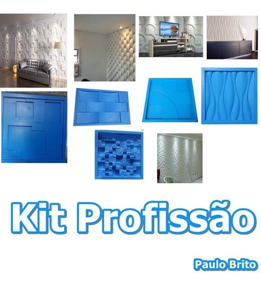 Kit Profissão 5 Formas De Silicone Gesso 3d