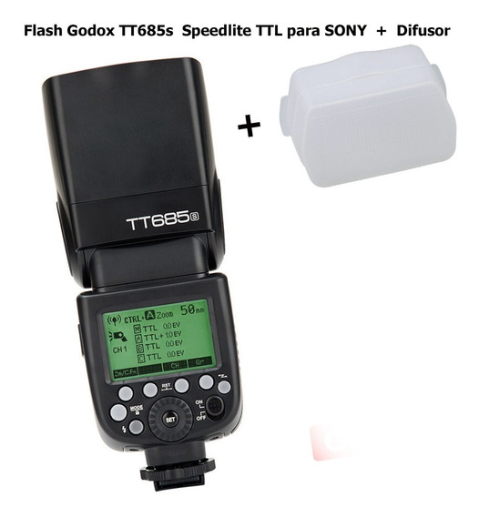 Flash Godox Tt685s Speedlite Ttl Para Sony + Difusor