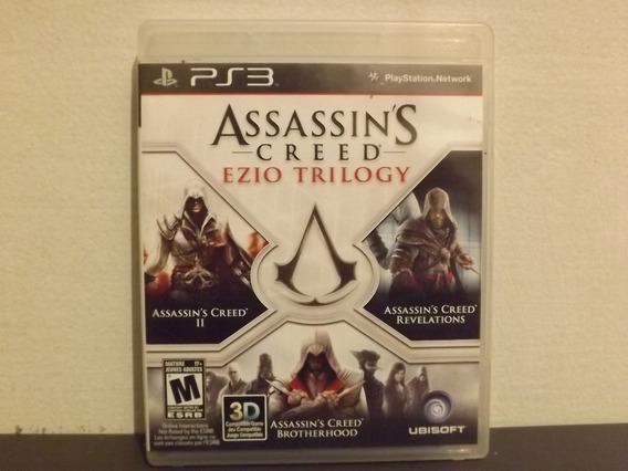 Ps3 Assassins Creed Ezio Trilogy - 3 Jogos - Aceito Troca...