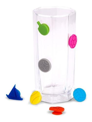 Set Por 12 Identificadores De Vasos O Copas