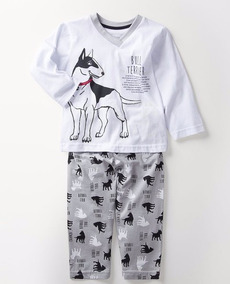 Pijama De Inverno - Cara De Criança - Bull Terrier