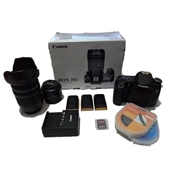Camera Canon Eos 70d Com Vários Brindes