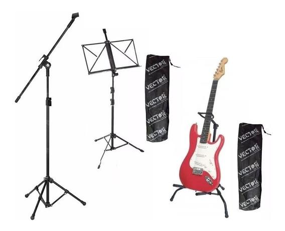 Suporte Para Microfone Pmv-01-p + Suporte Vilão + Est. Part.