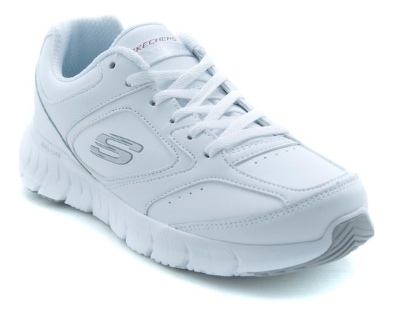 Tenis Skechers Sports 12180 Blanco Memory Foam Originales